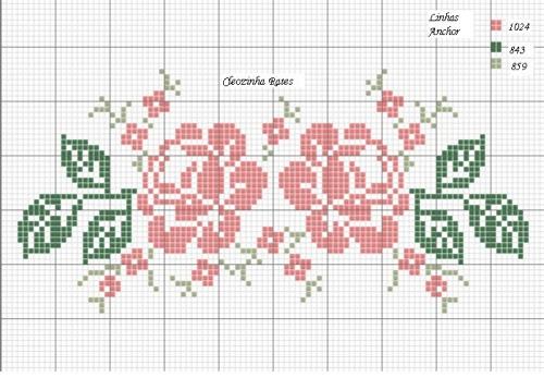 Вышивка роза крестиком лёгкая 75